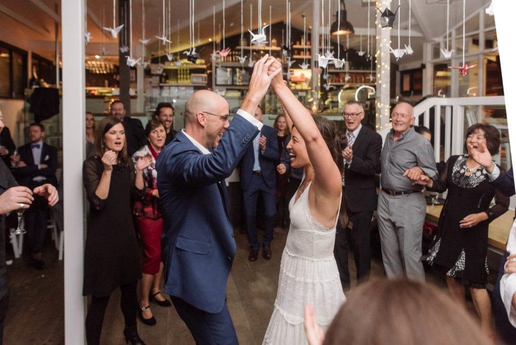 Wedding dancing in St Kilda Melbourne