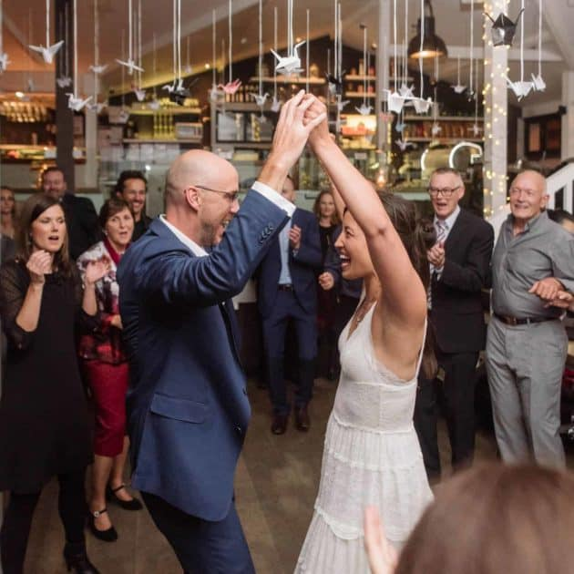 Wedding dancing in St Kilda Melbourne