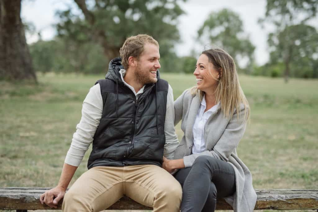 Loved up couple who are now married in Dunkeld