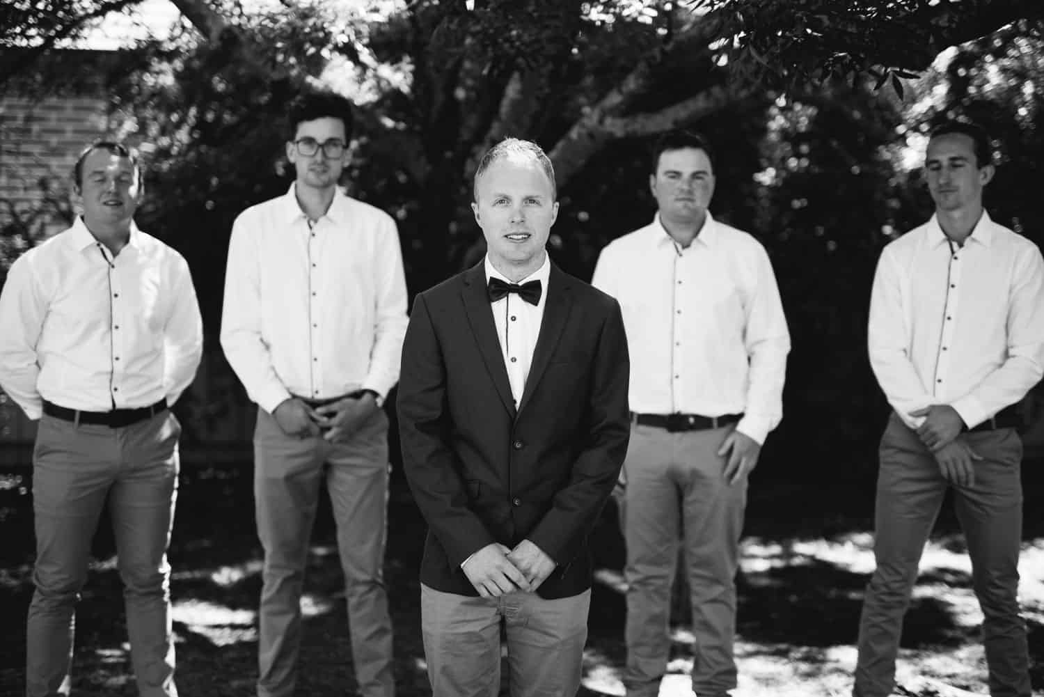 Groom and groomsmen at Ballarat