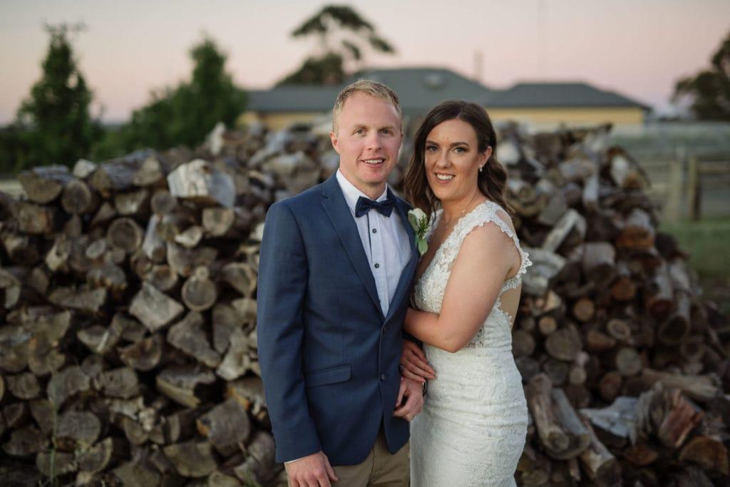 Narmbool estate wedding sunset
