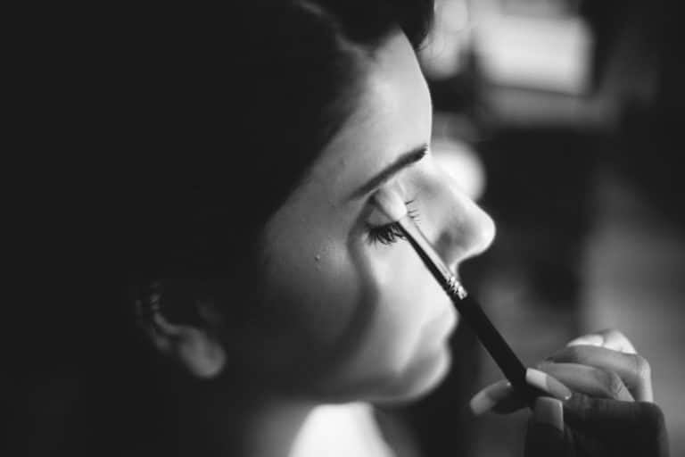 Bride having makeup done in Melbourne
