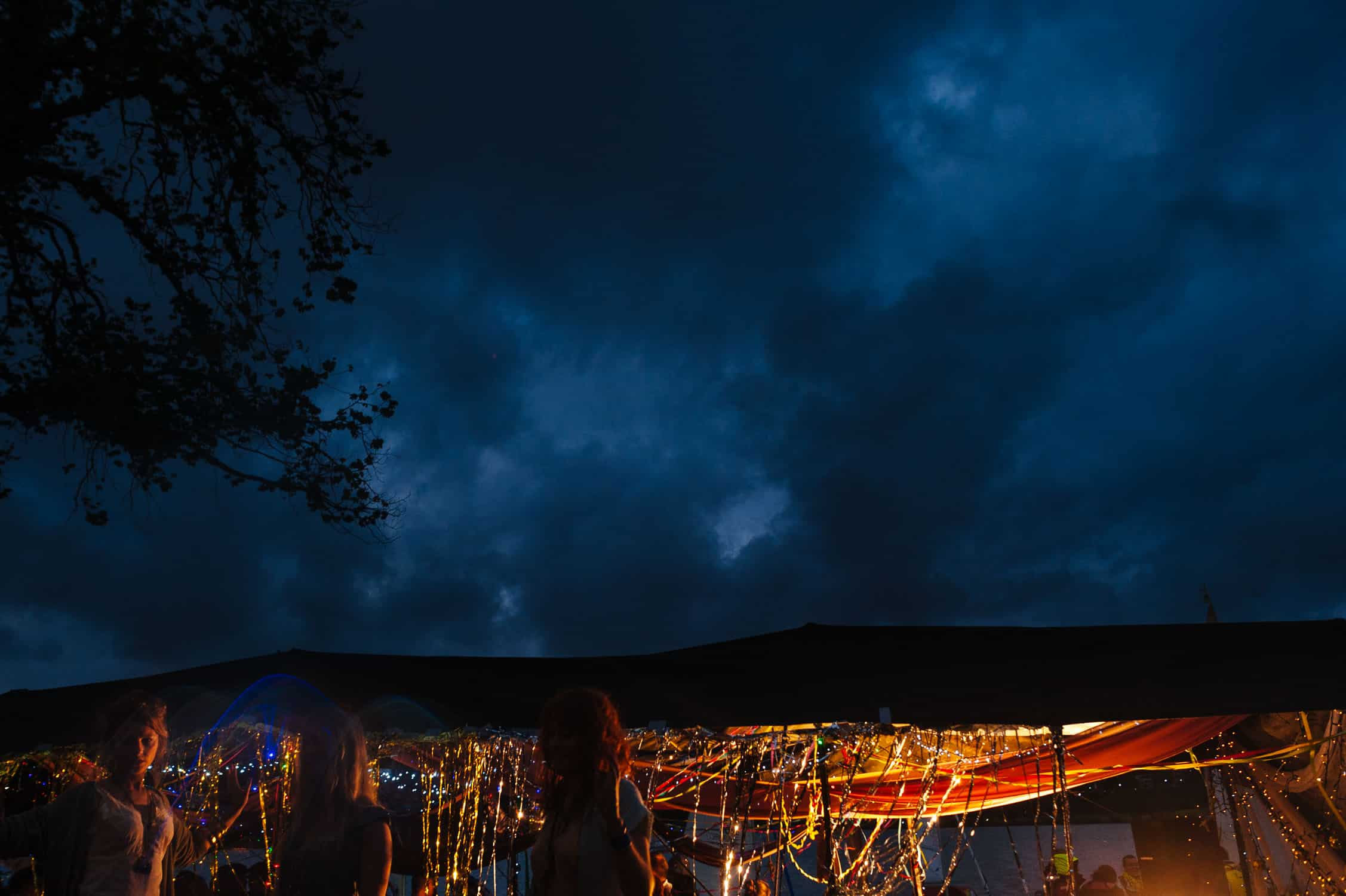 Stormy skies over Underground Cinema Water