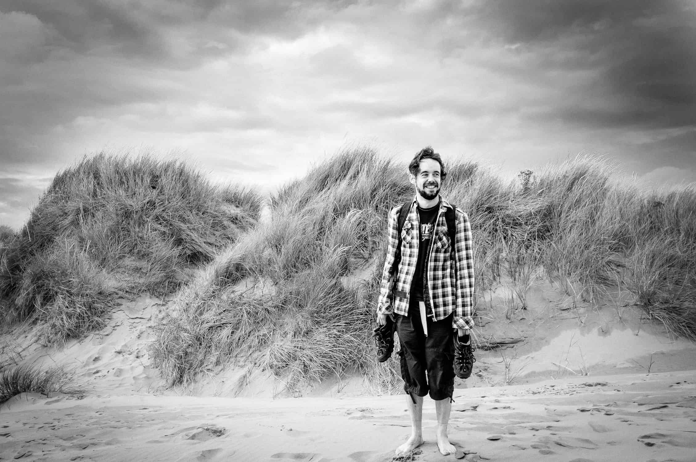 Beach portraot at the Gower in Wales