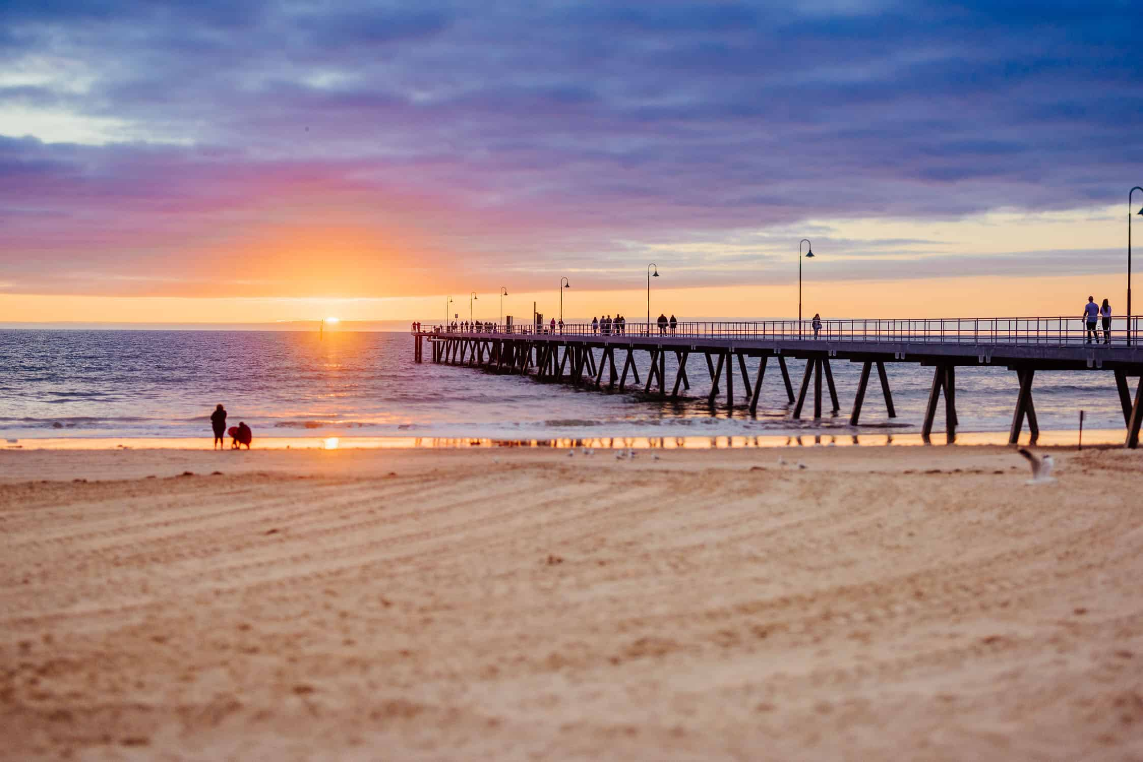 Vibrant Adelaide Sunset at the beach