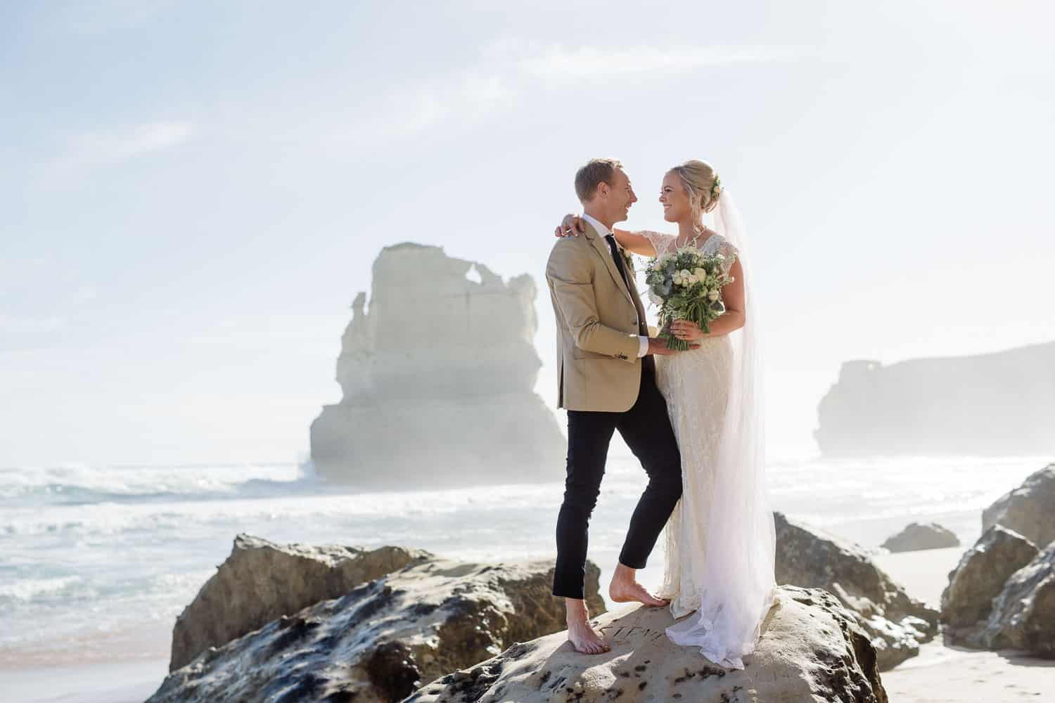 Twelve Apostles wedding photography at Gibson's Steps