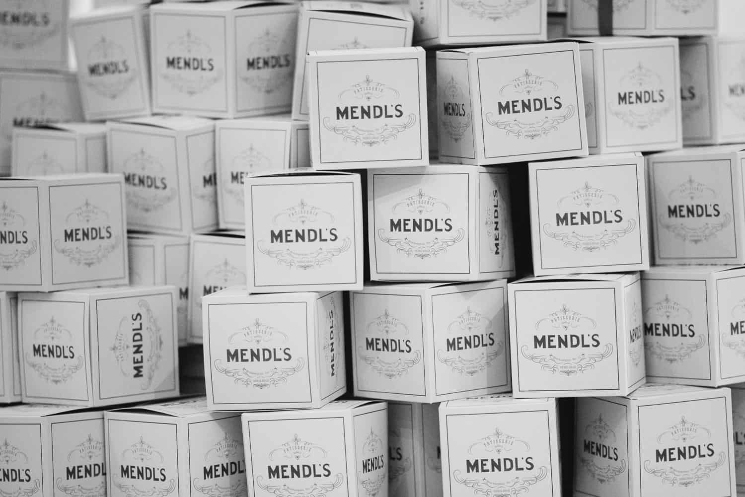 Mendl's bakery boxes at UGC hotel