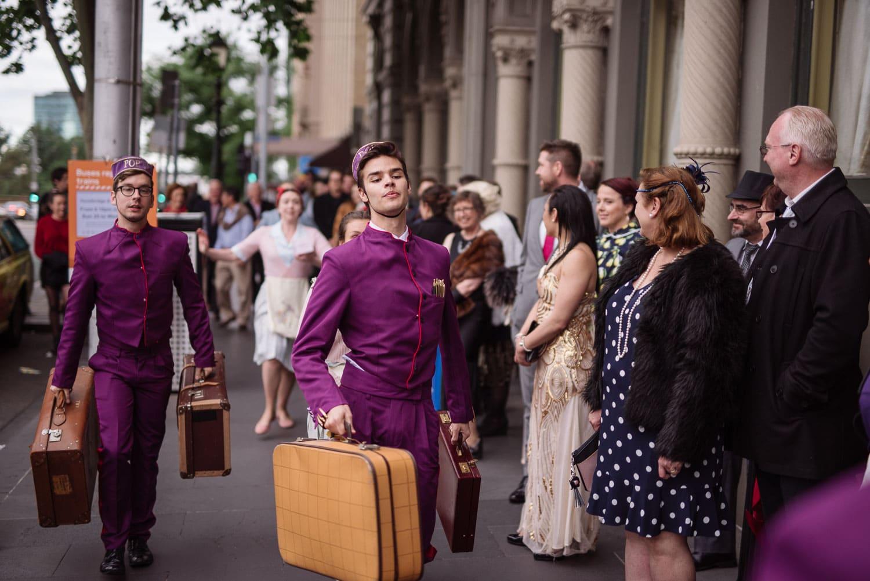 Porter outside Hotel Windsor in Melbourne