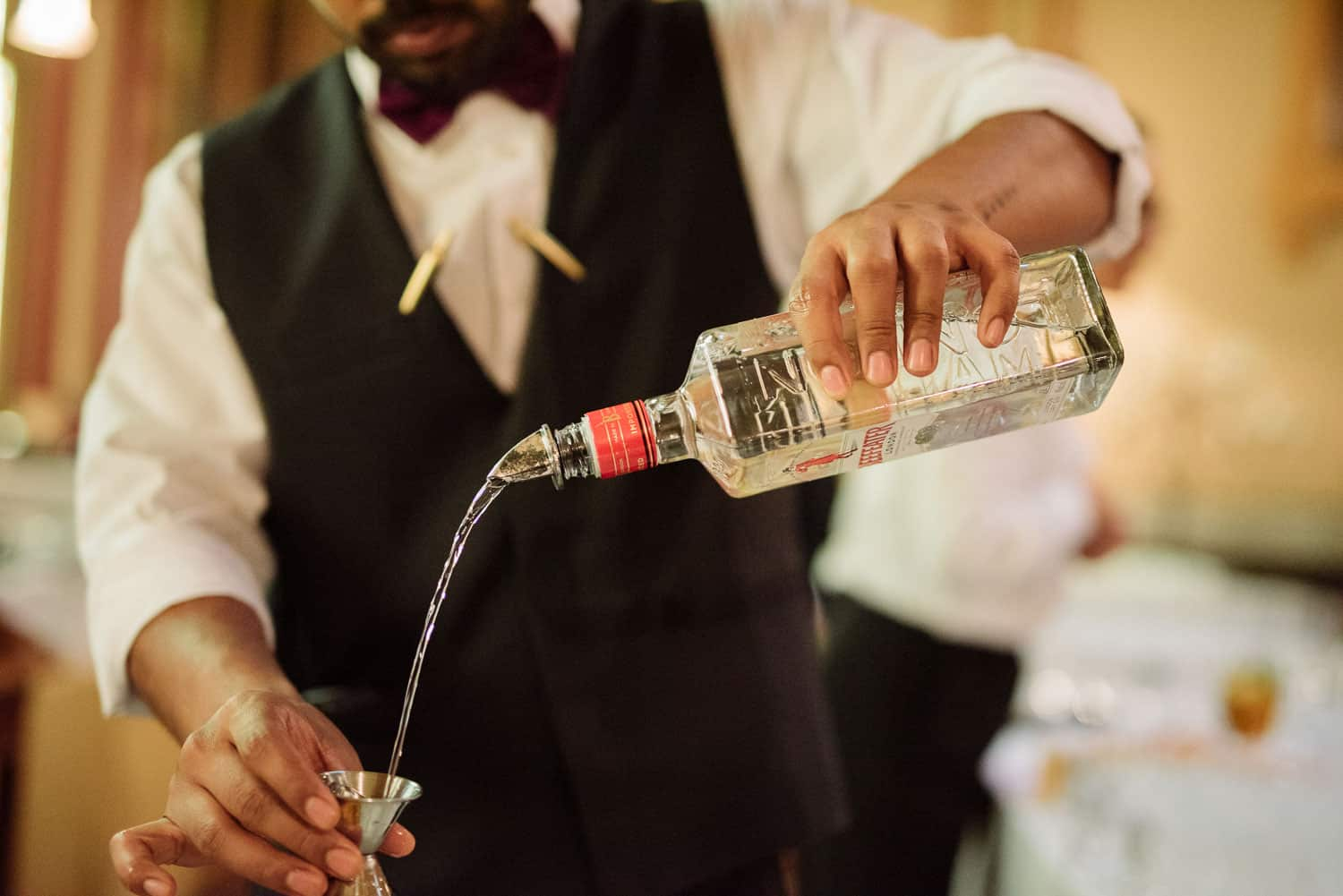Beefeater Gin being poured