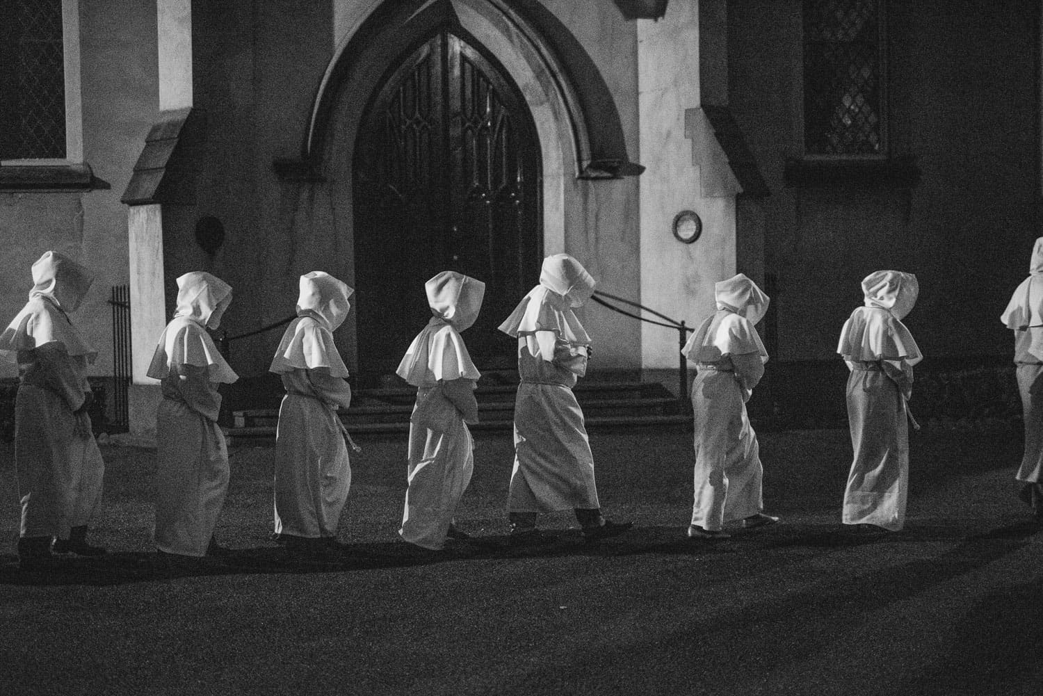 Hooded monks in Melbourne