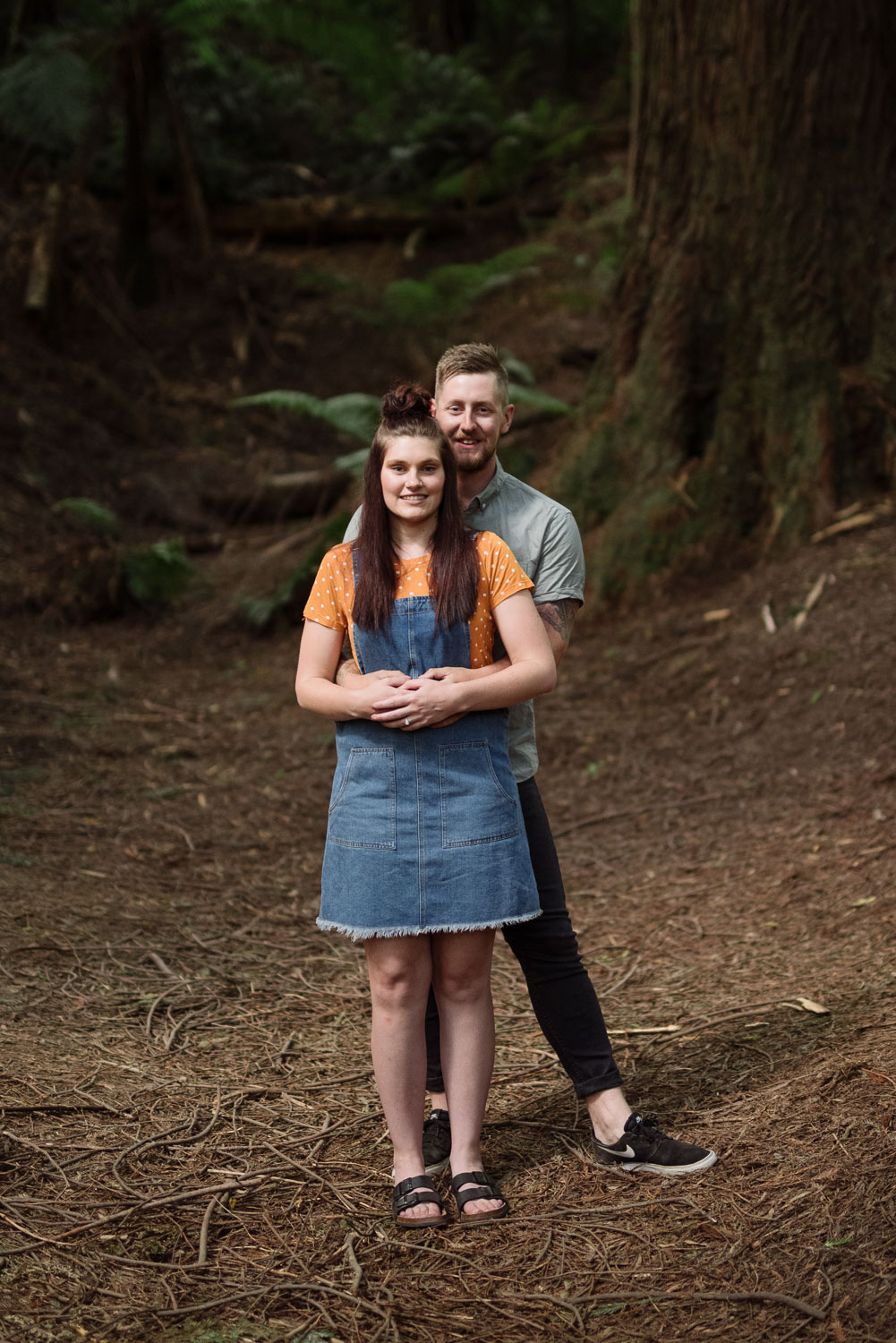 Engaged couple's portrait