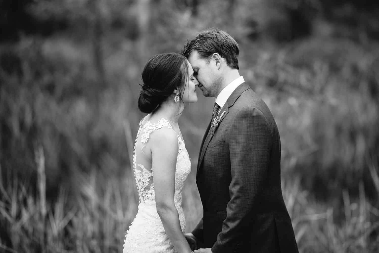 First kiss at a Dunkeld Wedding