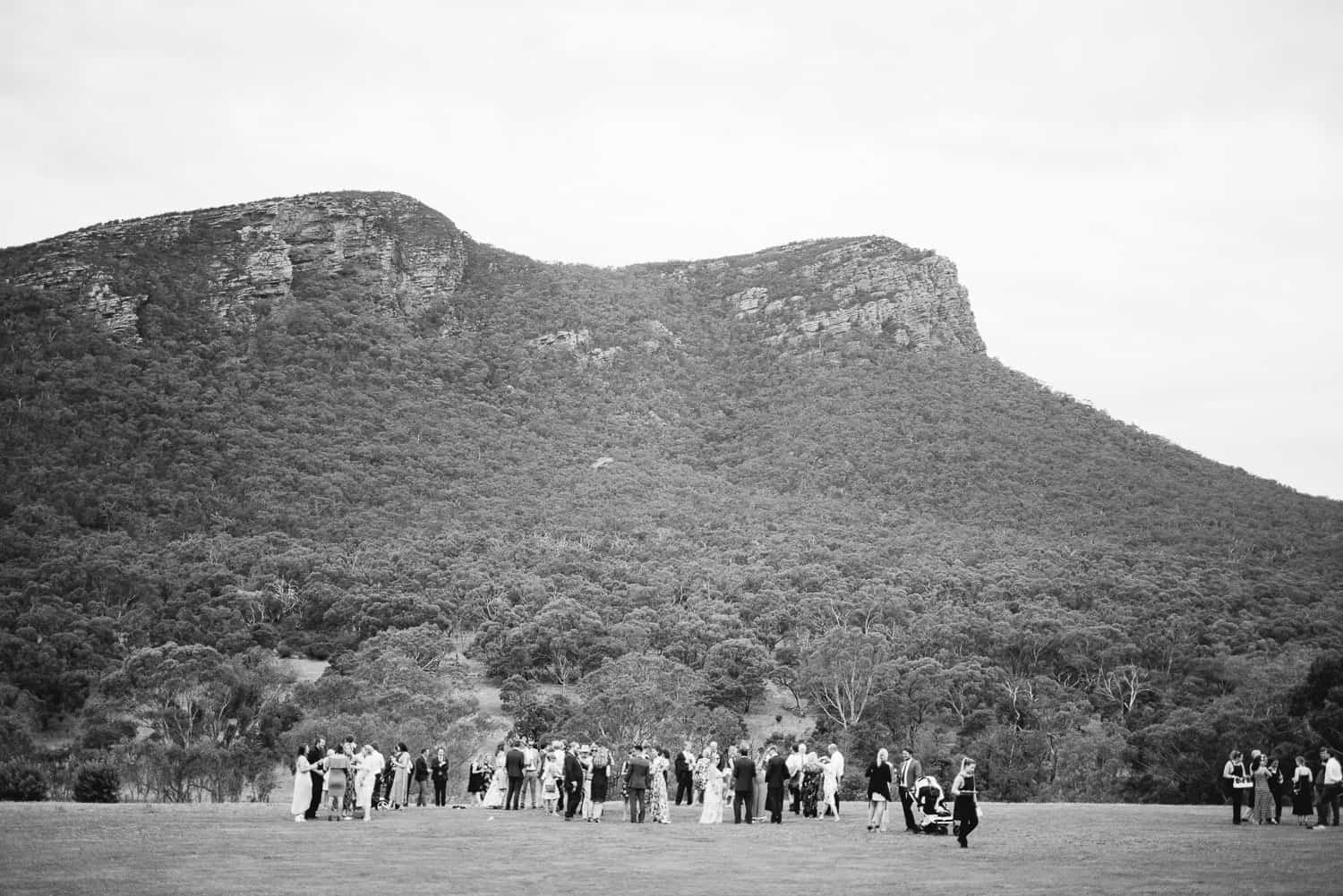 Dunkeld Wedding overlooked by Mt Sturgeon