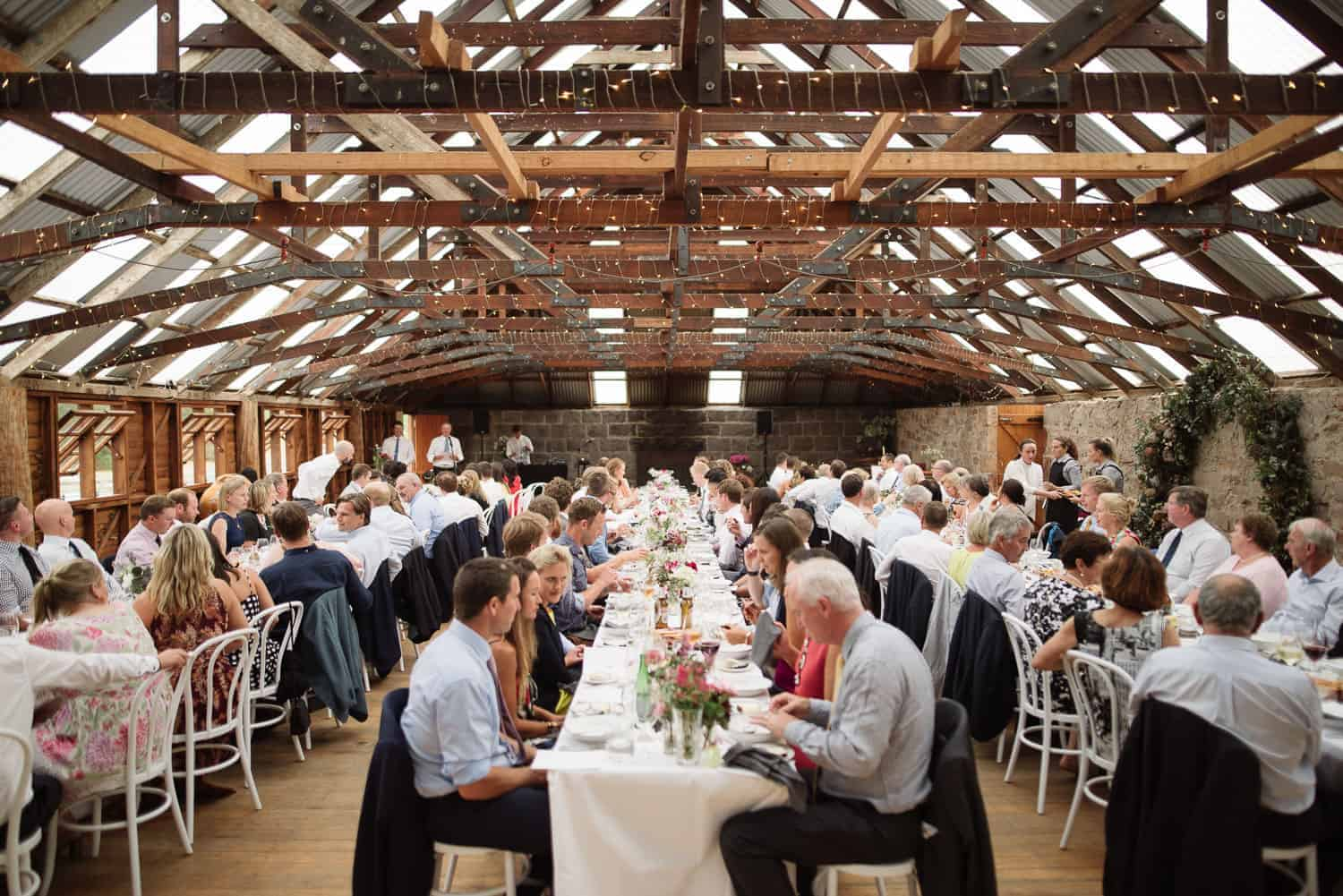 Mt Sturgeon Homestead's Woolshed near Hamilton hosting a Wedding