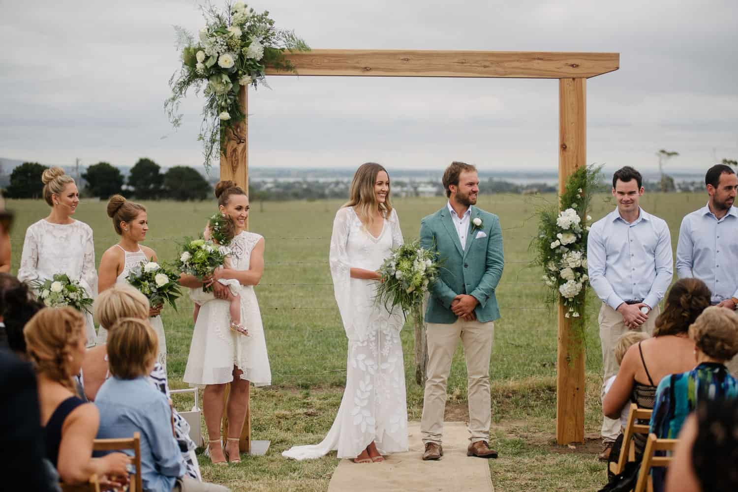 Backyard wedding near Colac