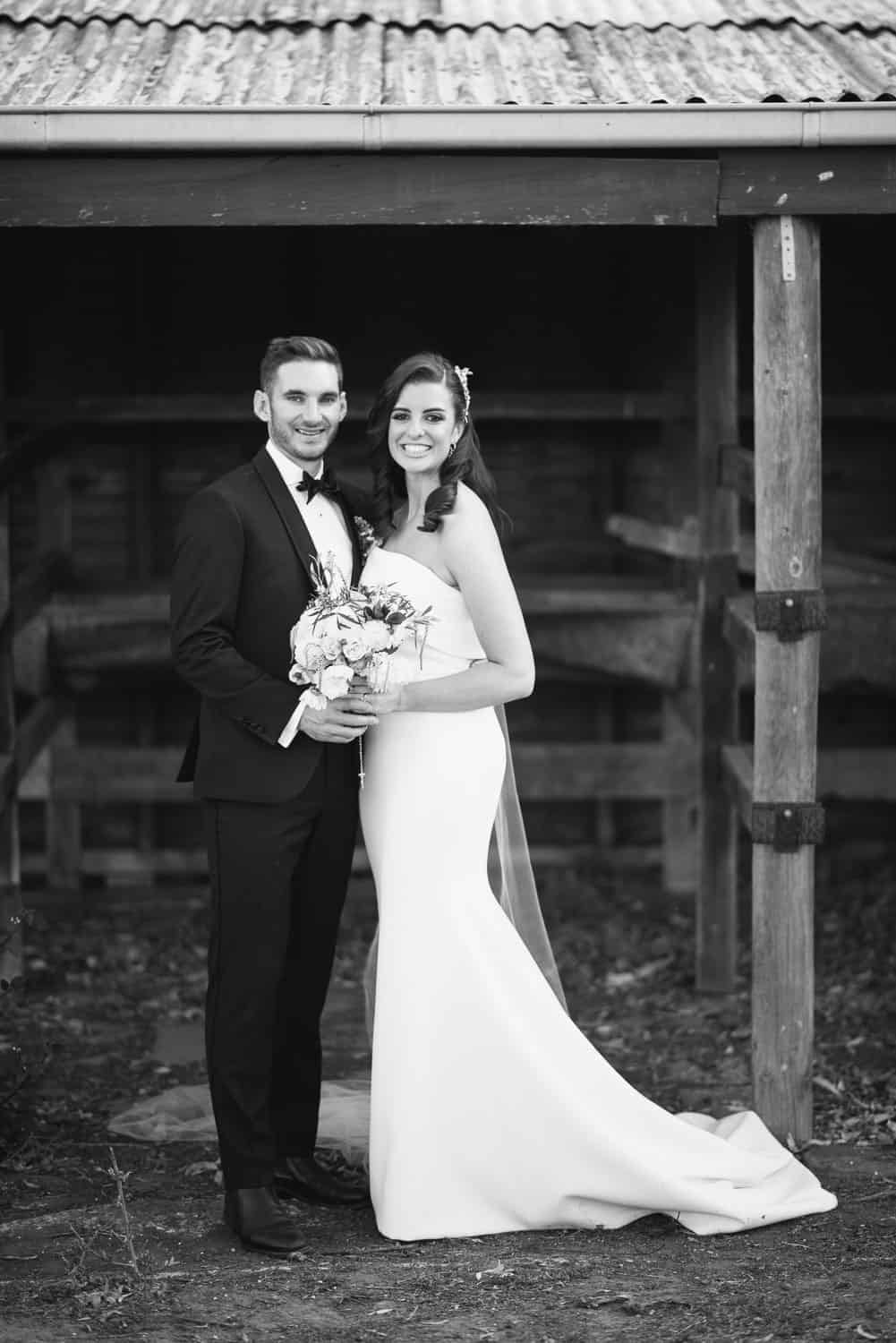 Bride and groom portraits in Victorian countryside