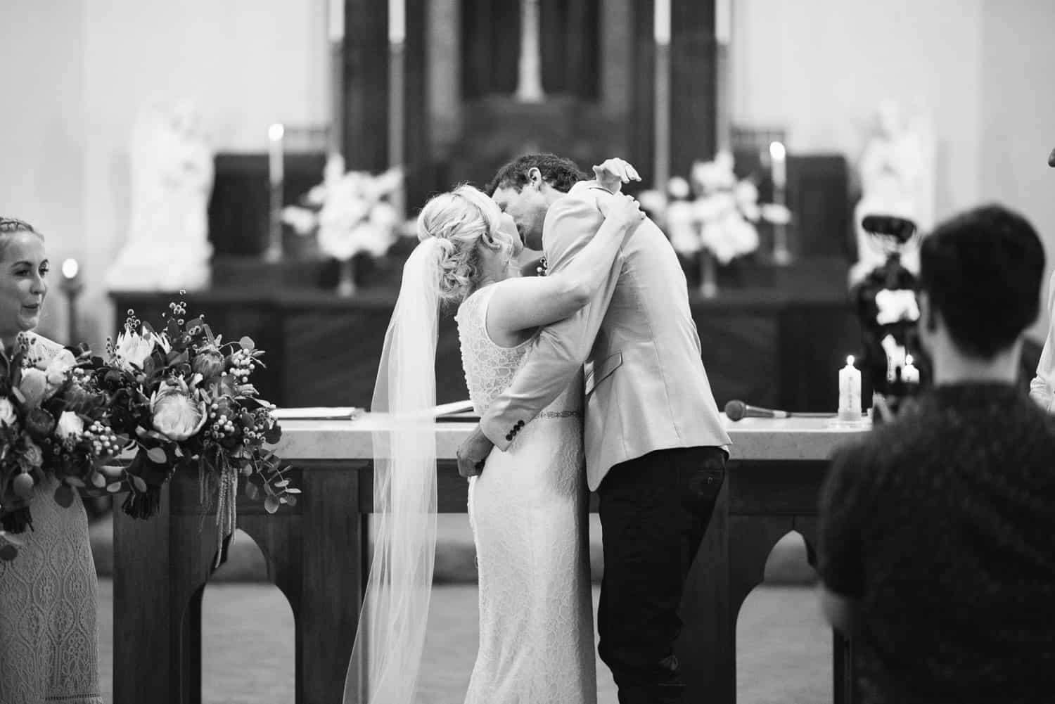 First kiss at St Brendan's church