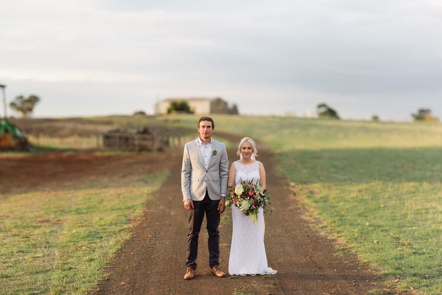 Ondit backyard wedding portrait near Colac