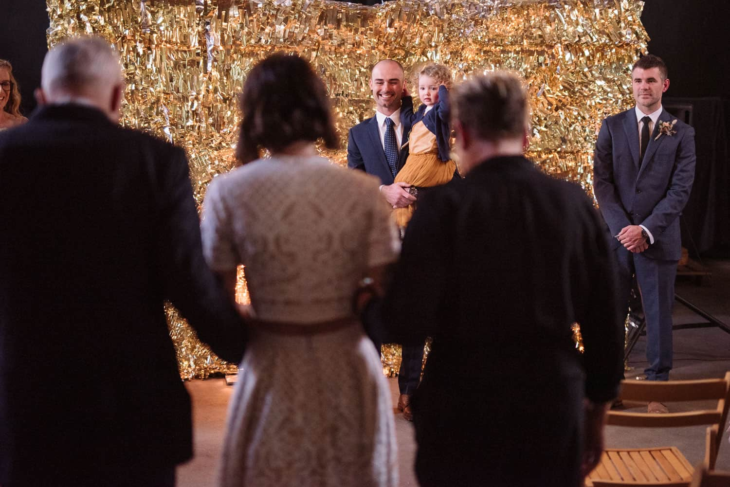 Groom sees bride for the first time at Sokil
