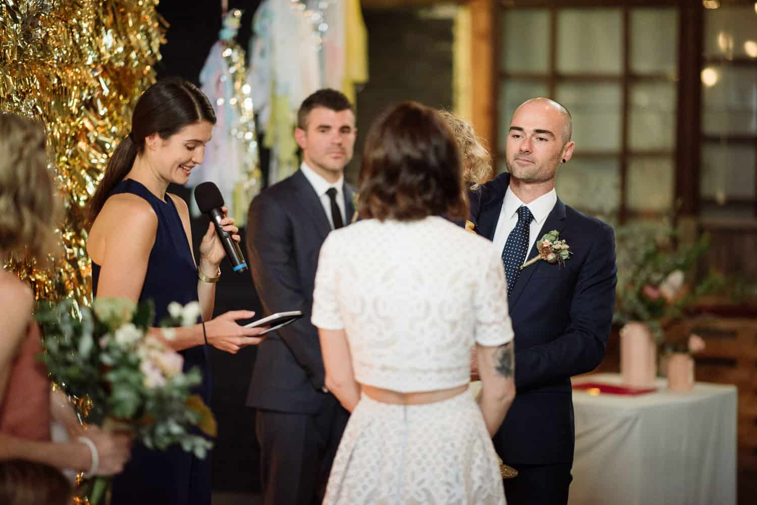 Nina and Josh's intimate wedding