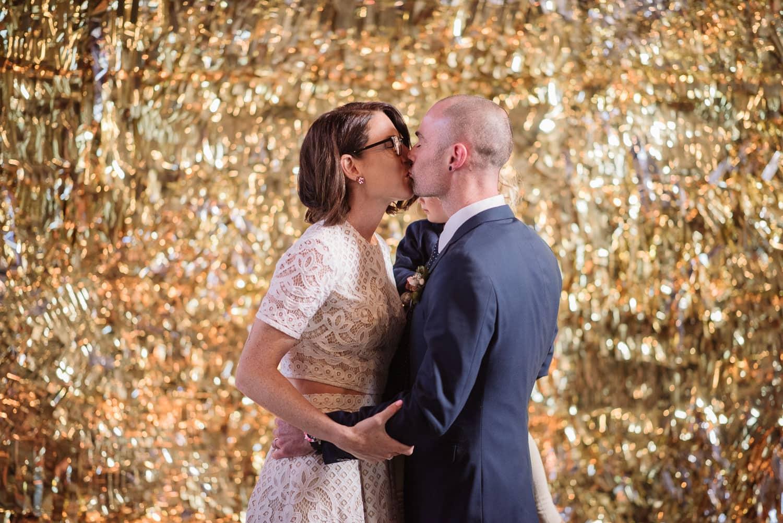 First kiss at a Sokil wedding