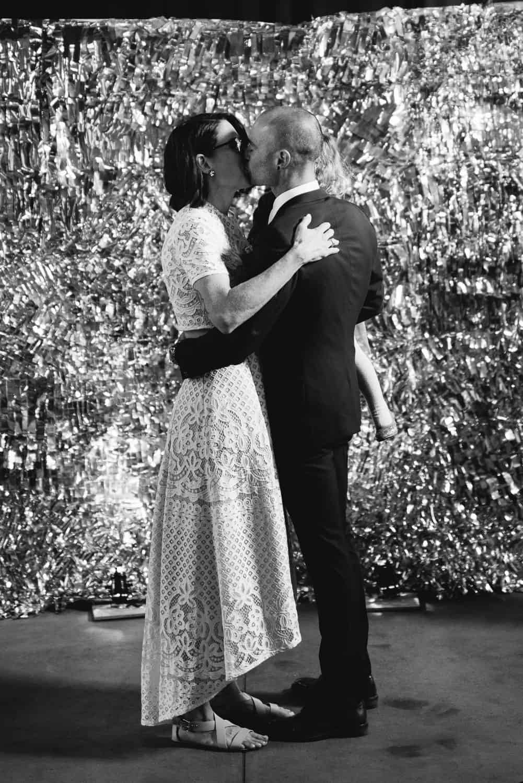 Sokil wedding kiss after ceremony