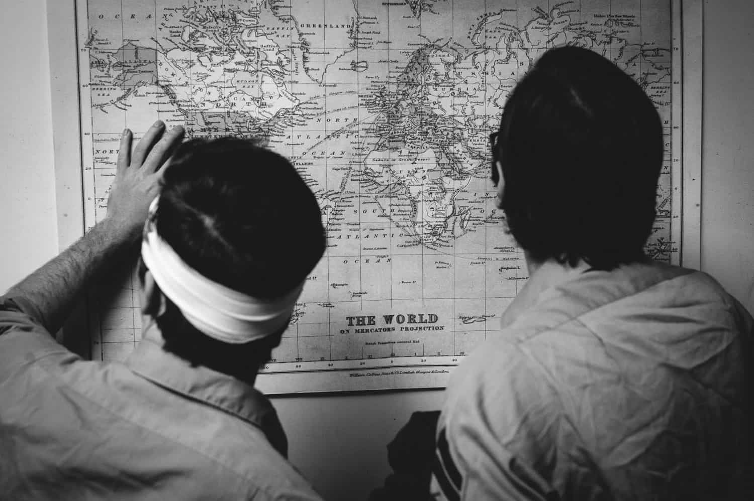 People looking at a map