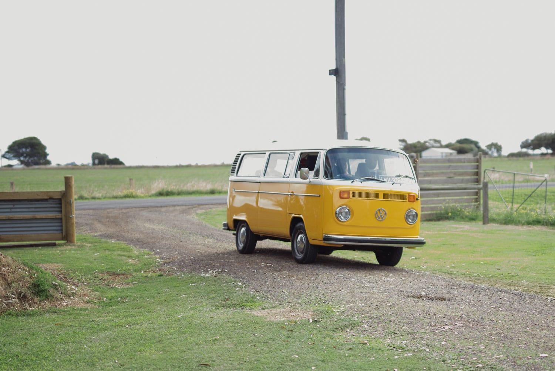 Combi van used as wedding car