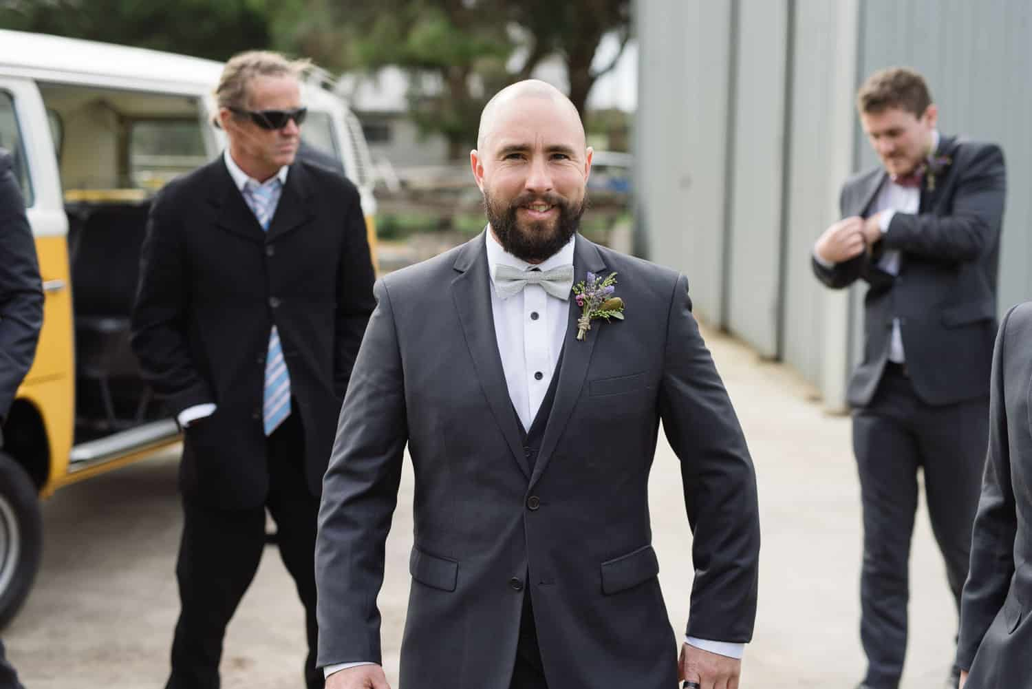 Groom just before he gets married in Warrnambool