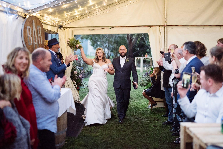 Enetering a Warrnambool Wedding reception