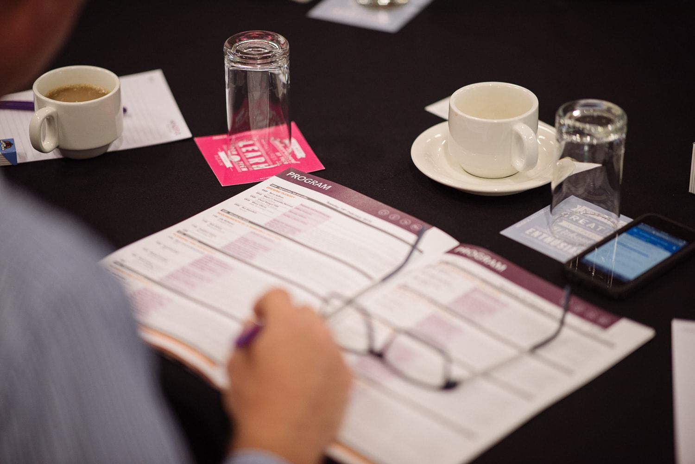 Conference program brochure
