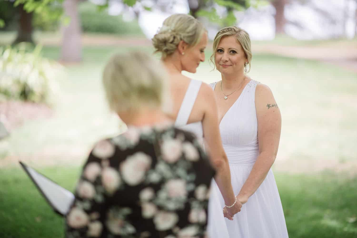 Colac gardens wedding ceremony
