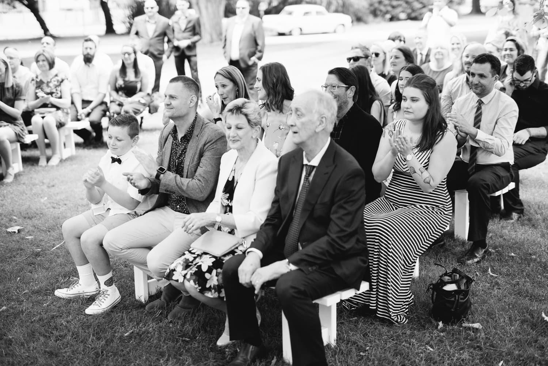 Coalc botanic gardens wedding guests