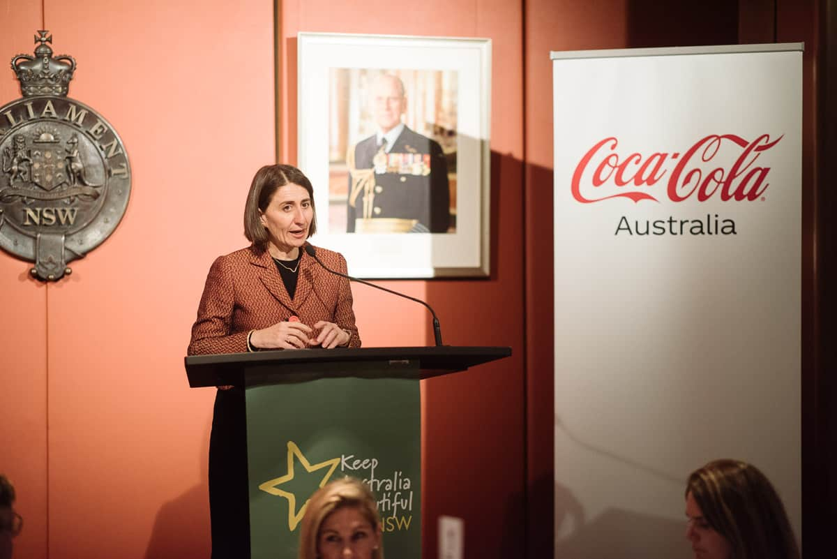 Gladys Berejiklian speaking at fundraising dinner