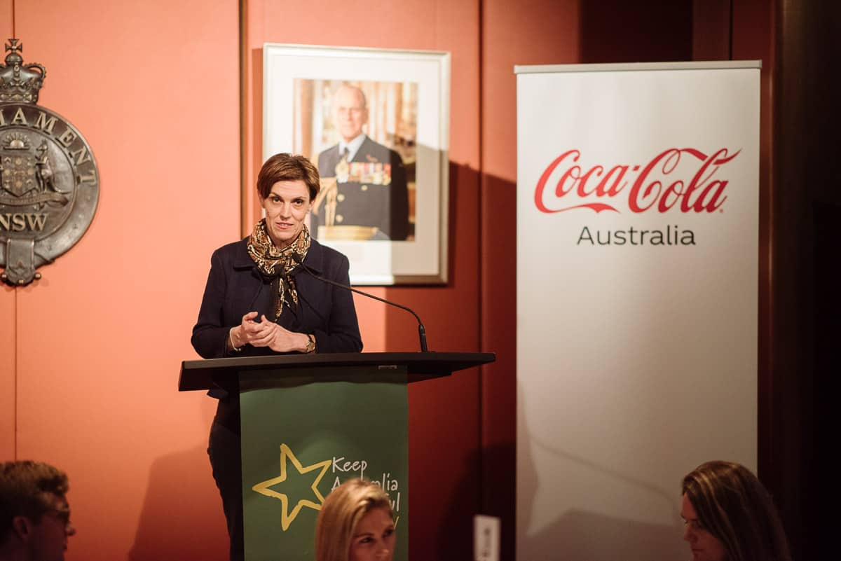 Christine Black Coca Cola at KAB NSW fundraiser