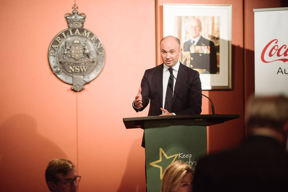 Matt Kean speaks at fundraiser