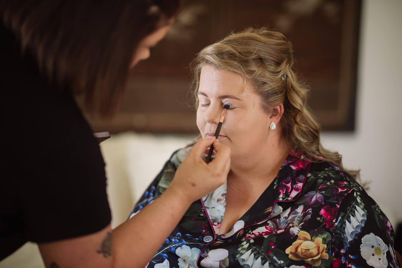 Bridal makeup in Terang
