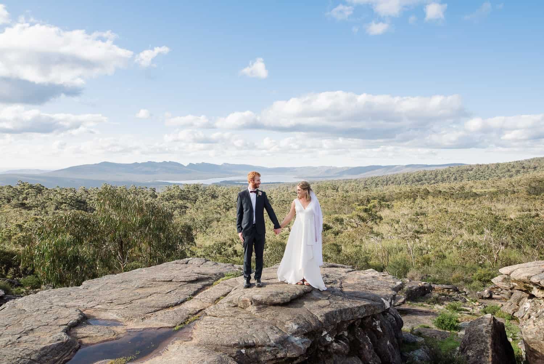 Boroka Lookout wedding portraits in the Grampians