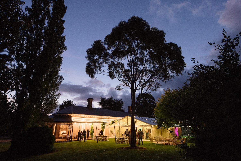 Blauvelt Park house in Terang at night